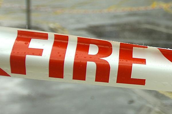 Shed fire in Cowes