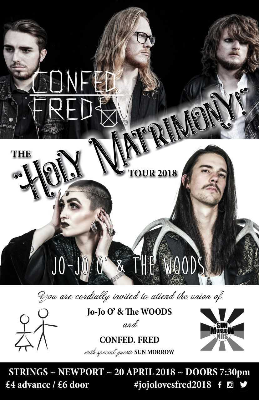 Confed. Fred and Jo-Jo O' & The WOODS will play at Strings Bar and Venue, Newport, ahead of their UK and Ireland Holy Matrimony tour. Contributed picture.