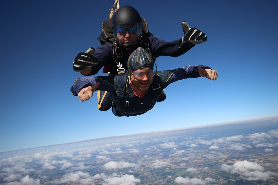 Age UK is encouraging people to raise funds by completing a skydive.