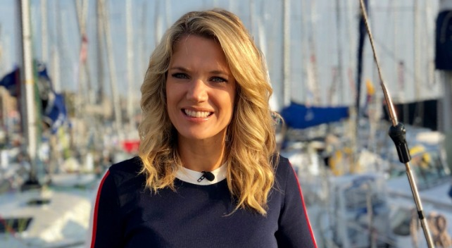 Charlotte Hawkins getting ready to sail a boat for Lendy Cowes Week. Twitter @CharlotteHawkns