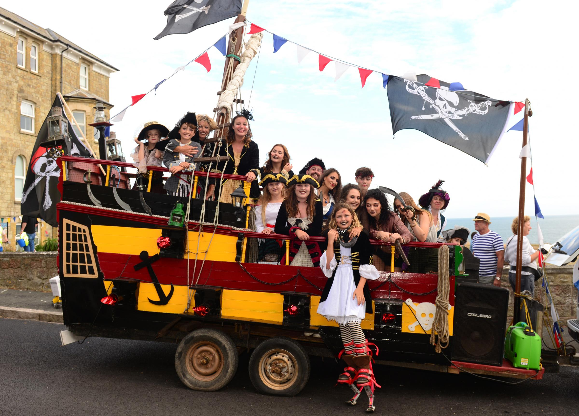 Pirates from The Spyglass Inn take part in Ventnor's carnival