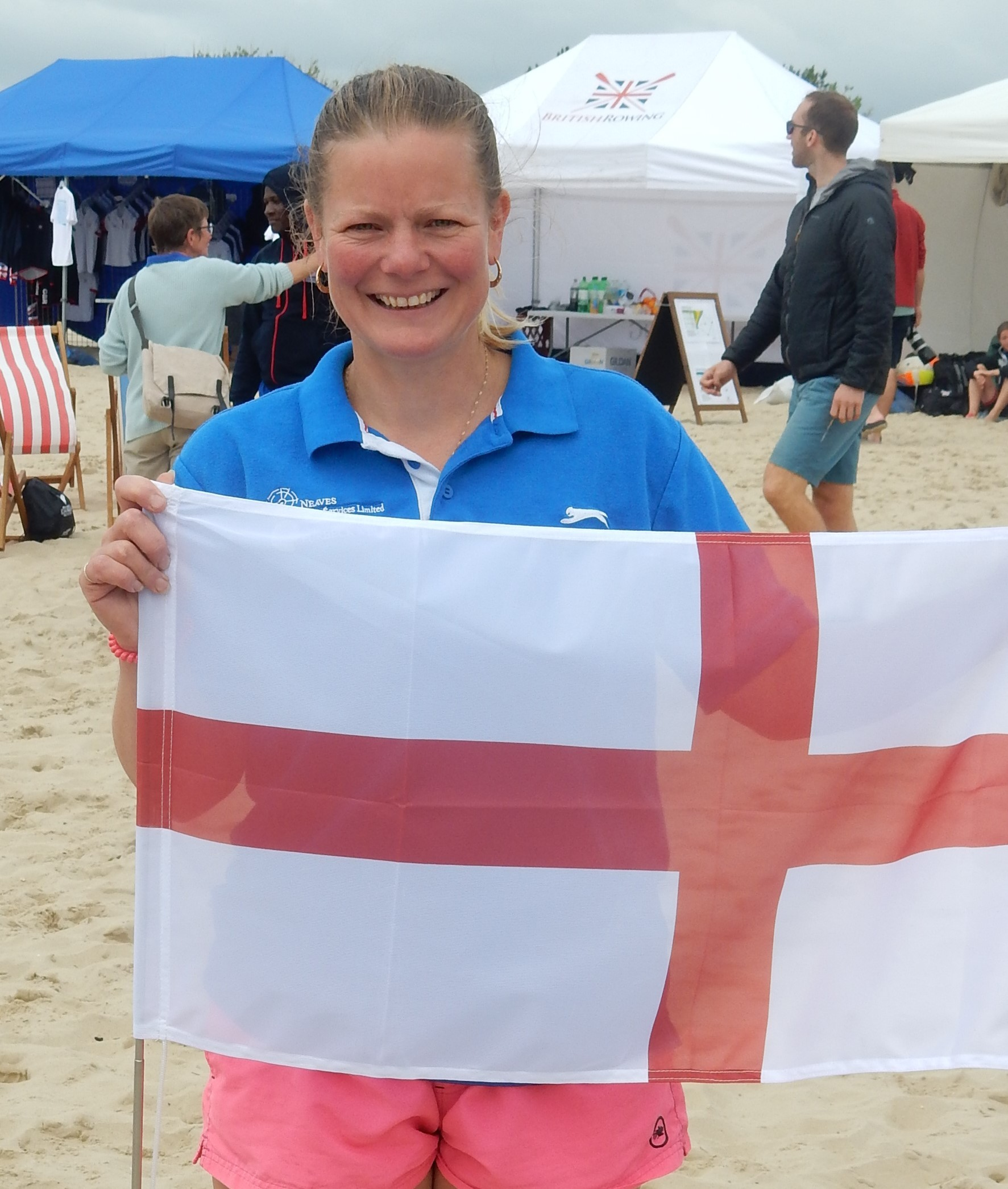 Ryde Rowing Club's Sharon Ayles, who represented England as a coxswain in the at the inaugural Commonwealth Beach Rowing Sprint Championships.