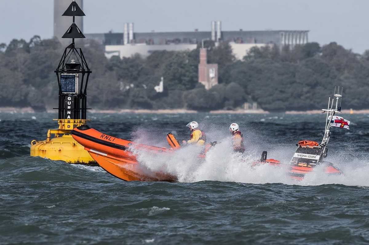 The Cowes RNLI Lifeboat in action. Picture from Facebook.