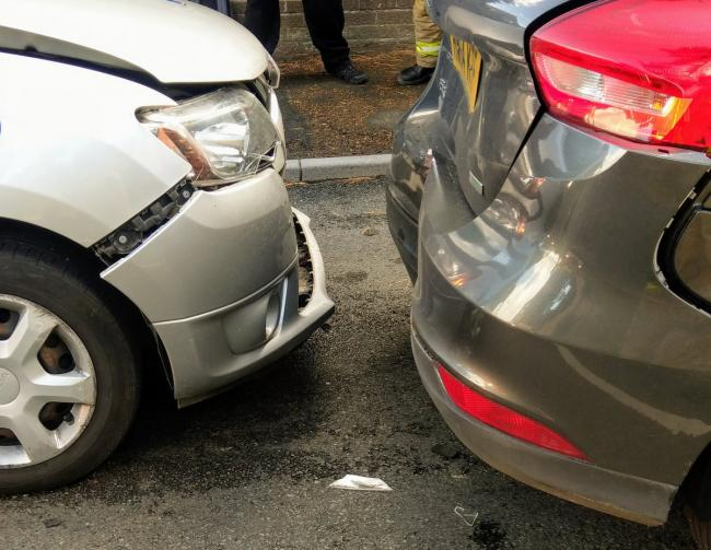 car crash on main road into sandown isle of wight county press