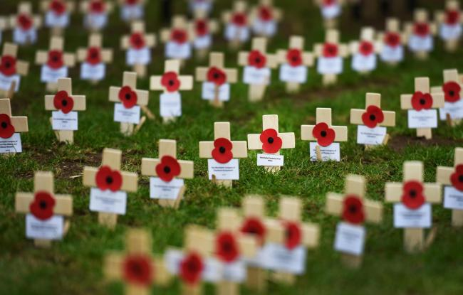 The St Paul's Cathedral remembrance field. Photo credit: John Stillwell/PA Wire