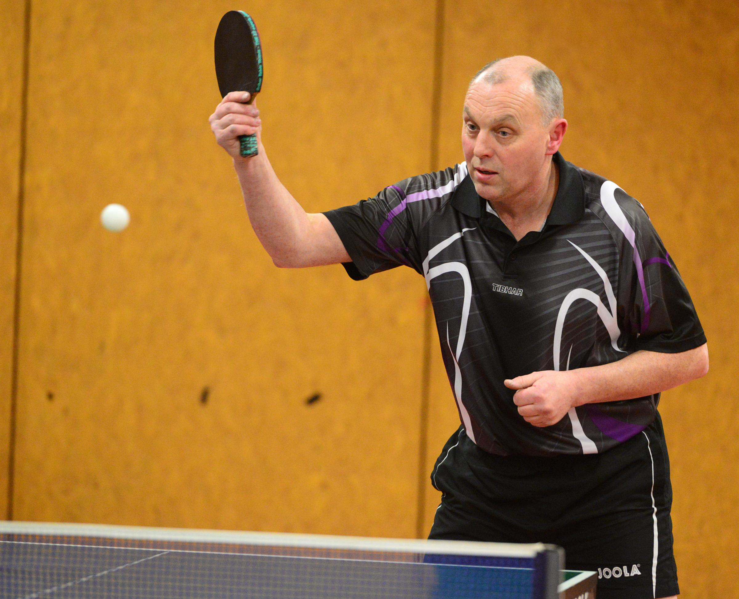 Ryde A player Lee Orton, who boasts a 100 per cent win record in Division 1 of the Isle of Wight Table Tennis Association League.  FILE