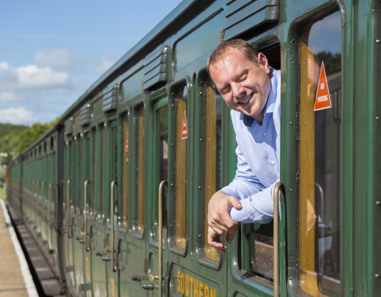 The Isle of Wight Steam Railway's new commercial manager, Richard Hale.