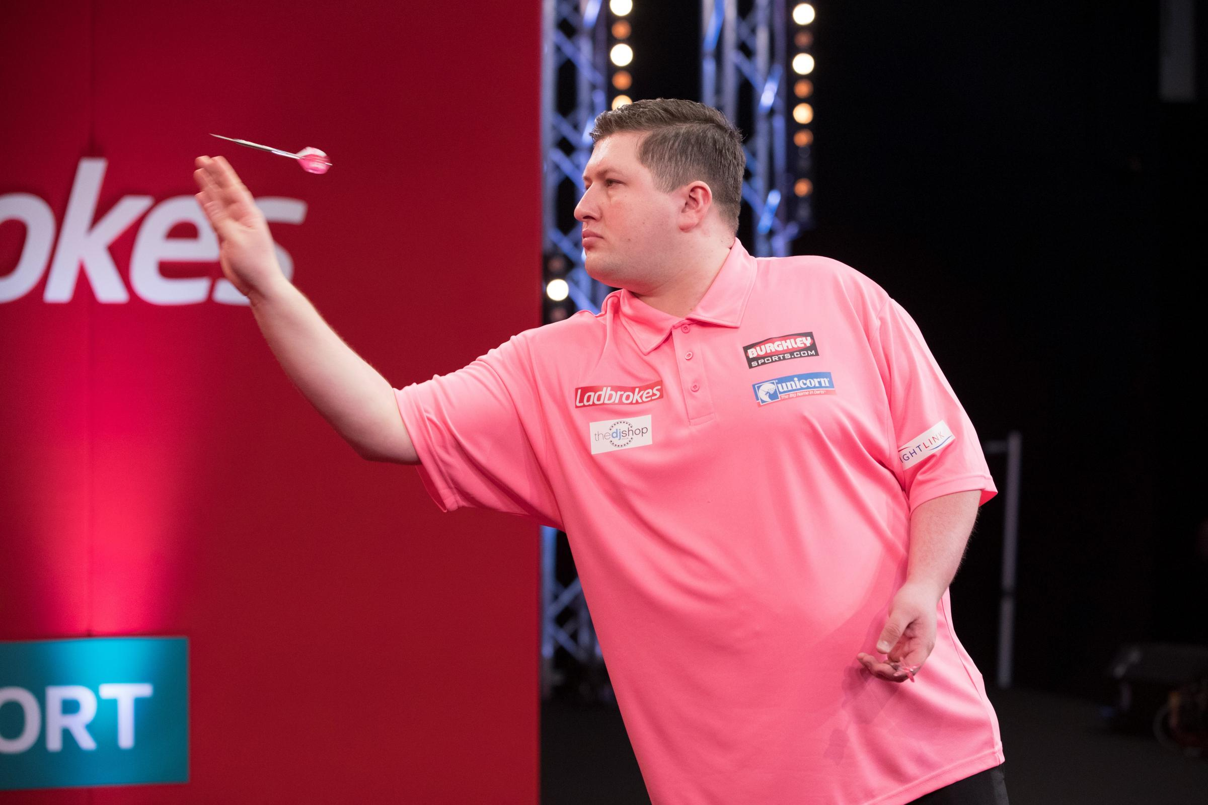 Isle of Wight darts star Keegan Brown beat 24th seeded Jelle Klaasen in the William Hill World Championships at London's Ally Pally this evening (Friday).  Photos:  Lawrence Lustig/PDC