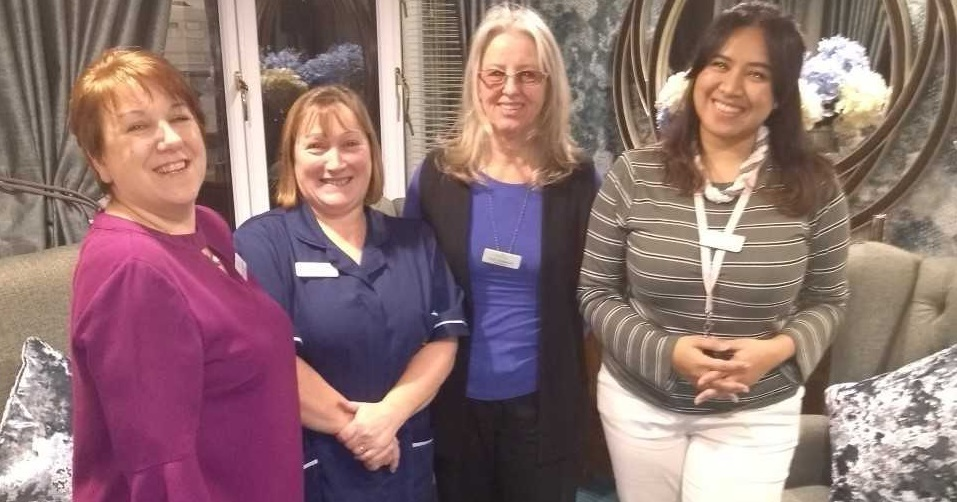 General manager Nicola Shepherd, deputy manager Julie Ballard, administrator Nicola Middlebrook, and admin assistant Arini Sawitri.